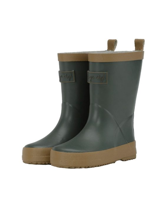 acd3049a KONGES SLØJD VALKEN RUBBER BOOTS SOLID / PINE | LITTLE COLUMBINE